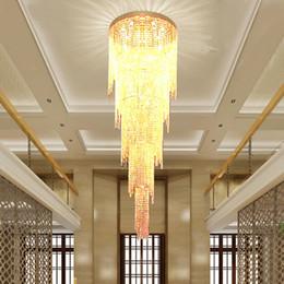 Deutschland Neues Design Lange Moderne Kristall Lichter Kronleuchter LED-Licht 5 Schichten Luxus Hotel Lobby Kronleuchter Pendelleuchte Ligting LLFA cheap modern led chandeliers for hotel lobby Versorgung