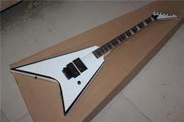 Новое поступление Белый V-образный белый электрогитара, высокое качество гитары на заказ магазин, бесплатная доставка! от Поставщики белая гитара v