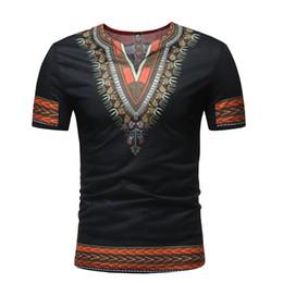 2019 abiti tradizionali africani vestiti africani vestiti da uomo africano roupa africana dashiki uomo africa v collar t-shirt per abiti tradizionali nigeriani sconti abiti tradizionali africani