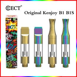 Original ECT Kenjoy B1 B1S Dab Stylo En Verre Épaisse Huile Vape Cartouches 0.5 ml En Céramique Bobine Pyrex Réservoir En Verre pour 510 Fil Batterie Ecig Atomizer ? partir de fabricateur