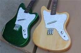 En forme de guitare à trois cordes en métal couleur verte en forme de rondin corps facultatif touche palissandre blanc perle ? partir de fabricateur
