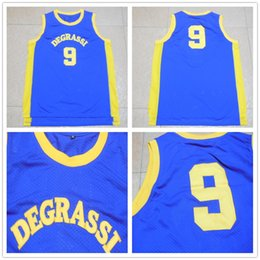 movie vest Promo Codes - Free Fast Shipping Mens Movie Jerseys Jimmy Brooks #9 Drake Degrassi Community HS Vest All Stitched Retro Basketball Jersey Size S-XXL