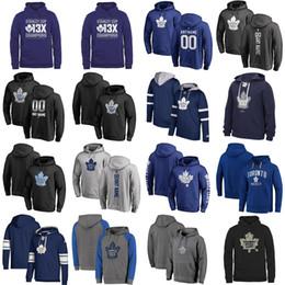 hoodies noirs pour les enfants Promotion Pas cher sur mesure des femmes des hommes enfants Maple Leafs de Toronto la meilleure qualité de broderie Logo Noir Bleu Gris Marine Hockey Hoodies avec un autre nom Tous Non