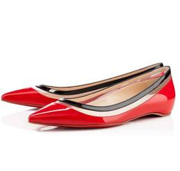 Estate di alta qualità in pelle verniciata con laccatura in pelle a punta delle donne all'aperto sandali classici rossi e neri, scarpe eleganti, ballerine cheap red dress shoes sandals da scarpe rosse scarpe sandali fornitori