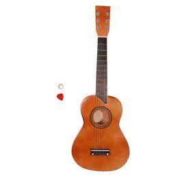 "2019 voando guitarra branca 25"" Acoustic Guitar + Escolha + Cordas de café"
