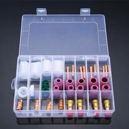 23 Adet TIG Kaynak Torch Aksesuarları 10 # WP-17/18/26 için Cam Bardak Collet Kiti nereden plastik boşluklar tedarikçiler