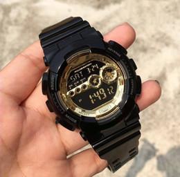 Shock nero di oro g online-Gli orologi di sport di stile dell'oro del nero di G 2019 hanno portato l'orologio di sport degli uomini di sport di vendita calda di multi-funzione degli orologi multifunzionali degli orologi di sport di lusso buon regalo per gli uomini