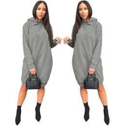 2019 robes en gros au genou Marque Designer femmes hoodie robe à manches longues lettre de broderie jupes courtes dame automne robes décontractées en vrac longueur genou jupes en gros promotion robes en gros au genou