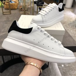 Chaussures vert lime en Ligne-2020 Top Chaussures Casual Femmes Hommes Baskets meilleures chaussures de plate-forme en cuir plat Chaussures De Sport Zapatillas Sneakers Suede