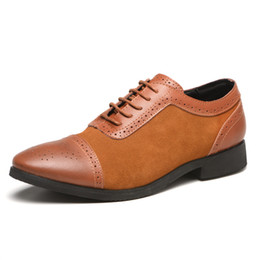scarpe da vestito in stile europeo Sconti Mens Oxfords Leather Basic Dress Formal Brogue Scarpe Uomo Fashion Classic Europe Luxury Gentry Style Best Sellers Nuova promozione