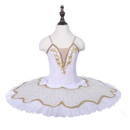 Snow Swan Dance Costumes Blanc Couleur Or Décoration Ballet Tutus Fille performance Tutu Jupe Enfants Crêpe ? partir de fabricateur