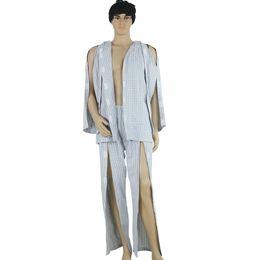 Pflegekleidung tragen online-Frühling und Herbst aus reiner Baumwolle, atmungsaktiv, für lähmende Patienten in Bettpflegebekleidung leicht zu tragen, für ältere Patienten geeignet