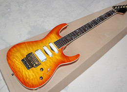 2019 24 fret gitarren Kostenlose shippingOrange 24 Bünde Double Rock E-Gitarre mit Palisander Griffbrett, Gold Hardware, Angebot angepasst günstig 24 fret gitarren