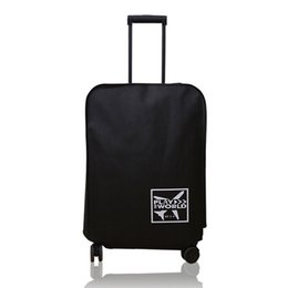 2019 водонепроницаемые чемоданы Dust-Proof Waterproof Travel Luggage Cover Outdoor Protective Non-woven Fabric Anti-scratch Thickened Suitcase Accessories дешево водонепроницаемые чемоданы