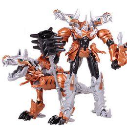 giocattoli di film dei robot di azione figura Sconti Cool Boy Giocattoli Regali Dragon Transformation Robot Cars Action Figures Movie 4 Bambini Classic Anime Giocattoli in plastica Modello Brinquedo