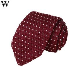 Gestrickte krawatten männer online-Krawatten Für Männer 1 STÜCK Herren Strick Crochet Streifen Krawatte Hochzeit Männer Klassische Krawatten Krawatte 2018 Nov16