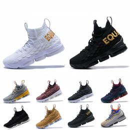 new product 25241 3f972 lbj sneakers Rabatt LBJ 15s 15 Basketballschuhe EQUALITY Schwarz Weiß  Herrenschuhe 15s EP Herren Turnschuhe Designer
