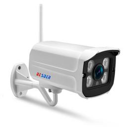 Besder Yoosee IP Camera Wifi 1080p 960p 720p Onvif Wired P2p 2mp Cctv proiettile telecamera esterna con slot per scheda SD Max 64g T190705 cheap outdoor cameras sd slot da slot per videocamere esterne sd fornitori