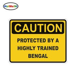 prezzo di fabbrica Sconti Attenzione all'ingrosso protetto da Bengal Attenzione Funny Car Sticker Cat Pet decalcomania in vinile Car Styling Body Decalcomanie Accessori