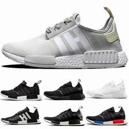 d0e2a64c17 2019 NMD Runner R1 Mesh Lachs Talkum Cream Olive Triple Schwarz Herren  Damen Laufschuhe Sneakers NMD Runner Primeknit Schuhe EUR 36-45