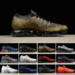 2019 zapatillas multi color Nike Air VaporMax Flyknit 2018 Summer New Style Fly 2.0 Running Shoes para hombres y mujeres Tamaño 36-45 Negro Blanco Rojo Azul Rosa Gris 11 colores rebajas zapatillas multi color
