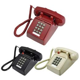 telefone de casa rosa quente Desconto Estilo retro telefone fixo casa telefone fixo Com Fio Corded Mesa Antiga Com Fio Desktop telefones Retro Vintage Botão Telefone Com Fio Cored Landli