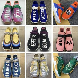 Zapatos de puesta a tierra online-2019 Human Race Corduroy Sean Wotherspoon SW Body Earth BBC Holi Cream Zapatos para correr Son Goku Hombres Mujeres Pharrell Williams entrenadores deportivos
