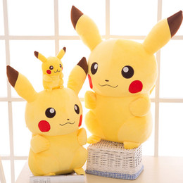 ursinhos brancos amor Desconto 2019 mais quente detetive pikachu plush dolls 45 cm pikachu brinquedos de pelúcia dos desenhos animados brinquedos de pelúcia brinquedos macio melhores presentes