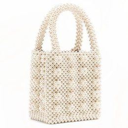 disegni sacchetti di perline Sconti design paragrafo Pearl heavy metal perline borsa perle borsa perline Box totes Borsa Vintage Femminile Top-handle All'ingrosso