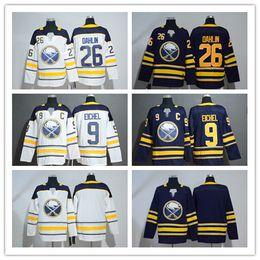 2019 Jack Eichel Hockey Jerseyss With C Patch Mens Buffalo Sabres 26 Rasmus  Dahlin Hockey Jerseys All Stitched Jerseys White Blue 808c09485
