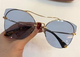 óculos de sol da flor Desconto 52S óculos de sol de luxo para mulheres designer de moda frameless flor forma óculos de sol de cristal metarial moda estilo mulheres vêm com rosa caso