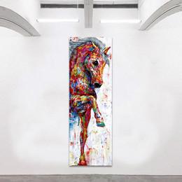 Cavalo impressão on-line-Cavalo Imagem Da Arte Da Parede Da Lona Pintura Cartaz Cópias Pintura Animal Home Decor No Frame Home Decor