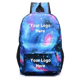 Fare il gioco scolastico online-Custom Made Gioco Luminoso Starry Sky Zaini Adolescenti Stampa Scuola borsa Unisex Grande capacità zaino all'ingrosso Y19061204