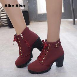 Artı Boyutu 35-43 Kış Rahat Kadın Sıcak Ayak Bileği Çizmeler Su Geçirmez Yüksek Topuklu Pompalar Kar Martin Ayakkabı Botas Patent Botas Muje A05 supplier botas plus size nereden botlar artı boyutu tedarikçiler