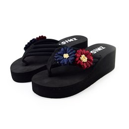 40977369b New Fashion Women s Ladies Summer Flower Home Wedges Beach Shoes High  Quality Sandals Flip Flops Slippers Zapatillas De Playa 15