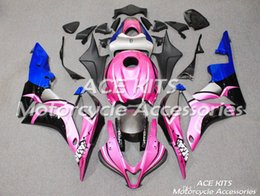 pink honda motorcycles Promo Codes - ACE KITS Motorcycle fairing For HONDA CBR600RR F5 2007-2008 Injection or Compression Bodywork sensational Pink shark +TANK NO.2609