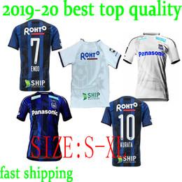 81bfa954f96 perfect 2019 2020 Gamba Osaka Soccer Jerseys 10 KURATA 7 ENDO Custom Name  Home Blue Away White 19 20 Japan J League Football Shirt