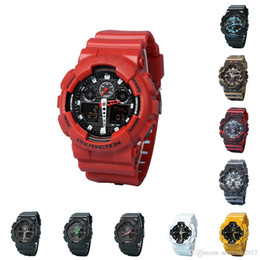 mens military army watch Promo Codes - Original shock watches mens sport wr200ar g watch Army Military Shocking Waterproof Watch all pointer work Digital Wristwatch 10 colors