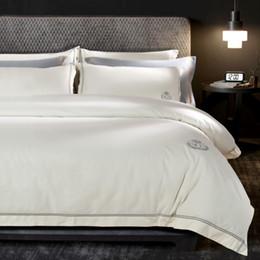 2019 tierdruck flachblätter Luxus Ägypten Baumwolle Schleifen Einfache Hotel Stil Bettwäsche Set Warme Bettbezug Set Bettlaken Kissenbezüge Königin King Size 4 Stücke