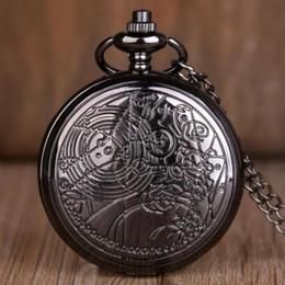 2019 relógio de medalhão de quartzo 10pcs Doctor Who metal de bolso de quartzo preto Filme Popular Assista colar de pingente com corrente Os melhores presentes para chirldren Mulheres Homens