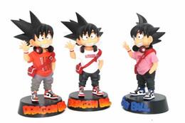Boules rouges gros garçon en Ligne-Dragon Ball Chiffres Marée Marque Rouge Blanc Modèle Jouets Ornement Visage Souriant Q Version Figurine Boîte Emballé Garçon Cadeaux 31ol N1