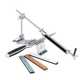 Sistema di affilatura professionale di affilatrice a coltello online-RUIXIN PRO III Affilacoltelli Professionale Tutti gli utensili per il sistema di affilatura della cucina in acciaio ferro Fix-angle con 4 pietre Whetstone III