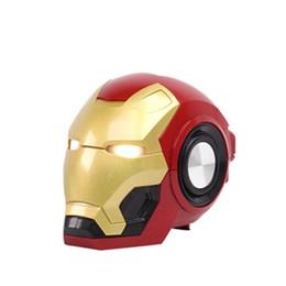 alto-falante bluetooth hy Desconto Homem de Ferro sem fio Bluetooth desenhos animados falante portátil ao ar livre Baixo sem fio Mini Robot TF Suporte alto-falante