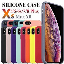 stand smart cover per iphone Sconti Avere LOGO Custodia protettiva morbida originale in gel di silicone liquido ufficiale per iPhone 11 Pro Max XS XR X 8 7 6 6S Plus con scatola al minuto
