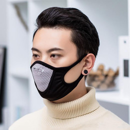 Filet de sports de plein air en Ligne-Sport Masque Anti-poussière respiration bouche Masques Visage net respirateurs adulte réglable earloop extérieur Mode 2 7JH UU