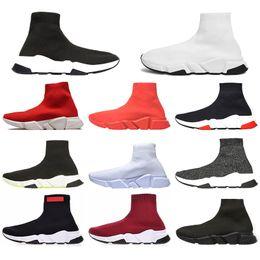 2020 esportes de alta velocidade Balenciaga Alta qualidade Designer de Luxo calçados casuais Sock Speed Trainer Preto azul vermelho Triplo Preto marca de moda Meias Botas Sports Sneaker respirável esportes de alta velocidade barato