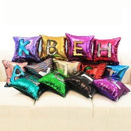 mermaid sequins pillow glamour cover Promo Codes - Single Side Sequin Pillow Case Glamour Square Pillow Case Car Sofa Bed Cushion Cover Home Decor Mermaid Bright Pillow Covers BH2223 TQQ