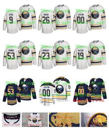 2019 изготовленные на заказ nhl jerseys НХЛ Баффало Сэйбрс Джерси 50-й сезон третий Джефф Скиннер Джек Эйхель Монтур Расмус Даллин Расмус Ристолайнен Картер Хаттон обычай хоккей дешево изготовленные на заказ nhl jerseys