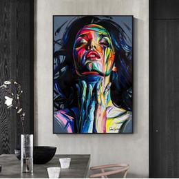 lienzo abstracto de navidad pinturas Rebajas Calle con cuadros arte de la pintada pared de la lona imprime Resumen Pop Girls arte de la acuarela de lona en la pared Imágenes para la decoración casera