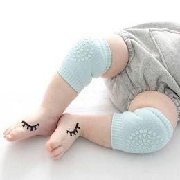 Calzini per neonati Maniche a compressione antiscivolo al ginocchio Maniche a compressione unisex Ginocchiera per proteggere le ginocchia Copertura 12M da gambali bambino giallo fornitori